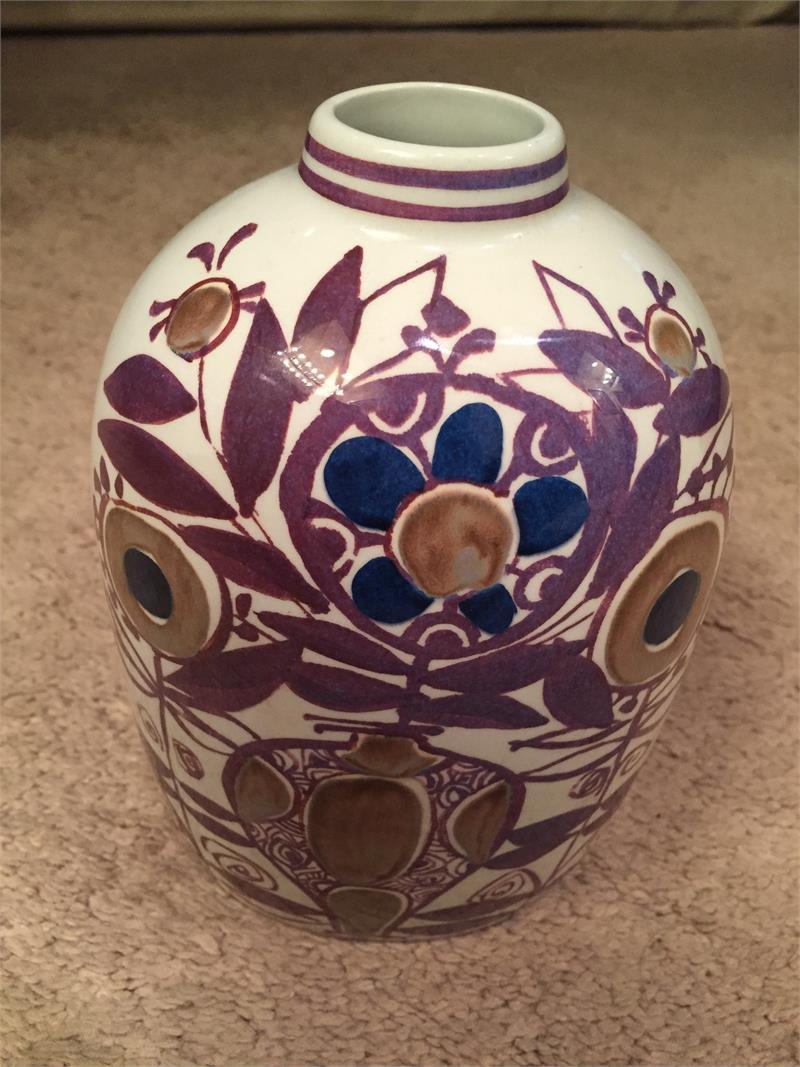 Royal copenhagen aluminia faience vase kari christiansen price 12900 reviewsmspy